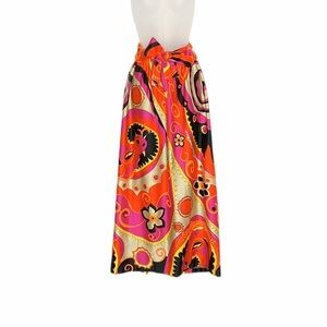 Alice of California psychedelic dragons maxi skirt